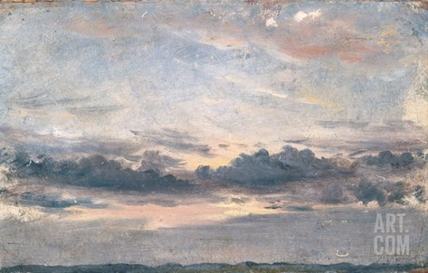 A Cloud Study, Sunset, C.1821 (Oil on Paper on Millboard) Stretched Canvas Print