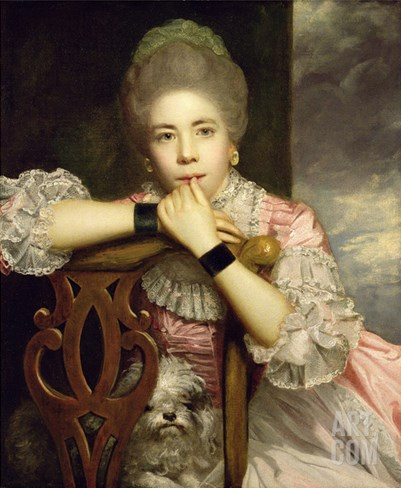 Mrs Abington as Miss Prue in Congreve's 'Love for Love,' 1771 Stretched Canvas Print