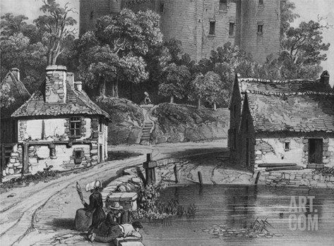 The Castle of Combourg (Detail) (See also 382376) (Litho) Stretched Canvas Print