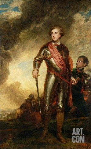 Portrait of Charles Stanhope, 3rd Earl of Harrington (1753-1816) 1782 Stretched Canvas Print