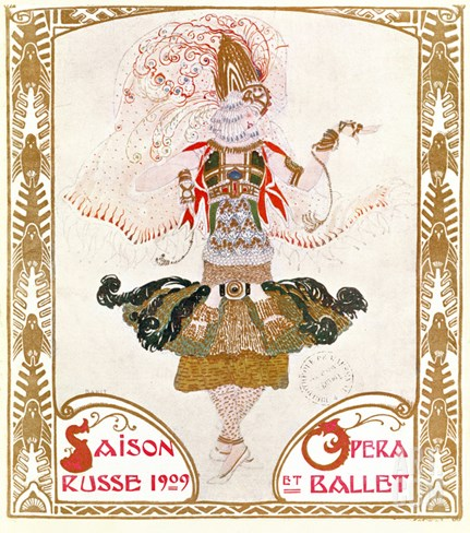 Cover of a Programme for the Russian Season of Opera and Ballet, 1909 (W/C on Paper) Stretched Canvas Print