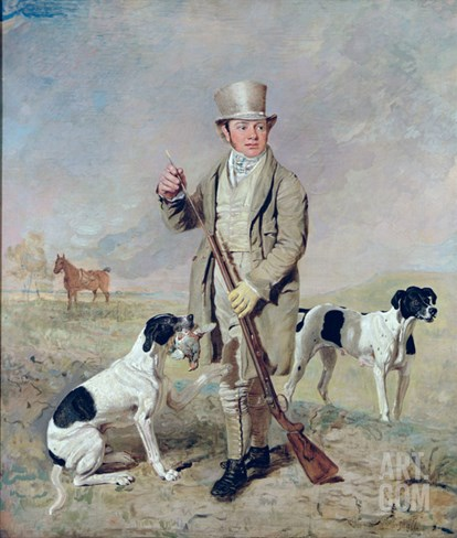 Richard Prince, with Damon, the Late Colonel Mellish's Pointer (Oil on Canvas) Stretched Canvas Print