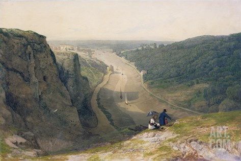 The Avon Gorge, Looking over Clifton, C.1820 Stretched Canvas Print