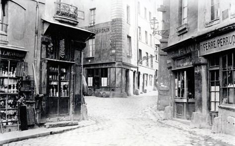 Crossroads of the Fromentel, Saint-Hilaire, Jean-De-Beauvais, Charretiere Et Mont-De-Marsan Streets Stretched Canvas Print