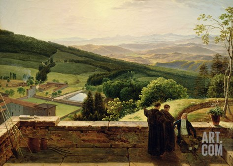 View of Vallombrosa, Near Florence Stretched Canvas Print