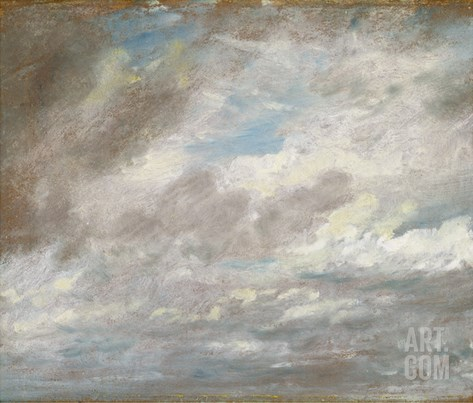 Cloud Study, C.1821 (Oil on Paper Laid on Card) Stretched Canvas Print