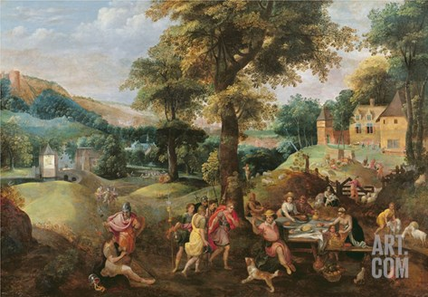 Cincinnatus Receiving the Deputies of Rome Stretched Canvas Print