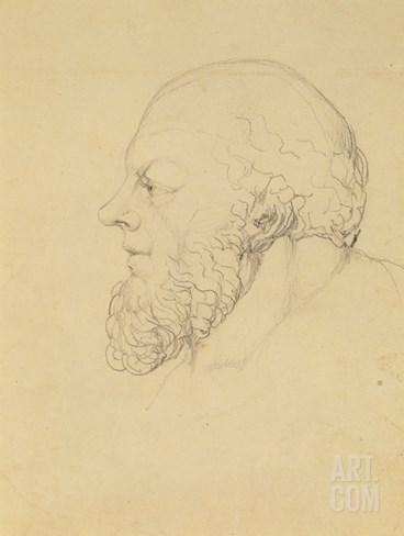 Socrates, C.1820 (Graphite) Stretched Canvas Print