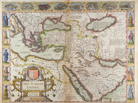 The Turkish Empire, from 'A Prospect of the Most Famous Parts of the World' Stretched Canvas Print