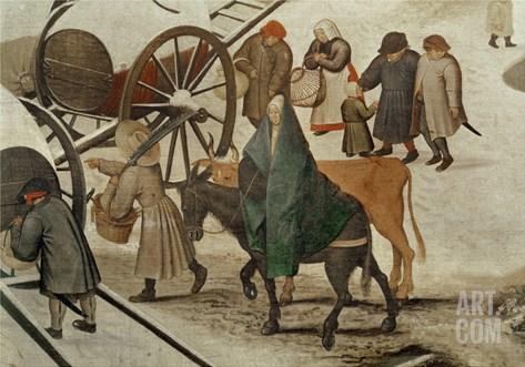 The Census at Bethlehem (Detail) Stretched Canvas Print