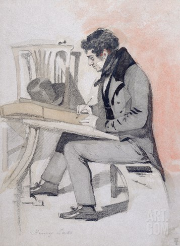 Henry Sass, C.1830 (Black Chalk, W/C and Pen and Ink on Paper) Stretched Canvas Print