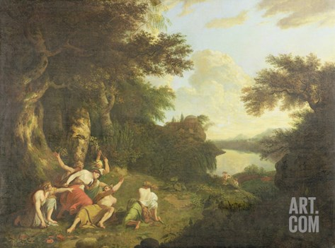 The Death of Orpheus, c.1770 Stretched Canvas Print