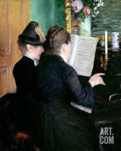 The Piano Lesson, 1881 Stretched Canvas Print