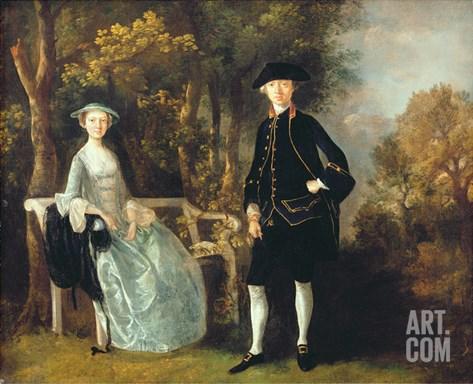 Lady Lloyd and Her Son, Richard Savage Lloyd, of Hintlesham Hall, Suffolk, C.1745-46 Stretched Canvas Print