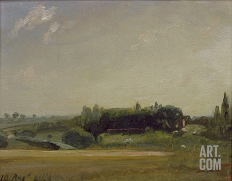 View Towards the Rectory, East Bergholt, 1813 Stretched Canvas Print