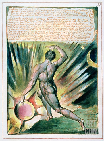 Awake! Awake Jerusalem...', Plate 97 from 'Jerusalem' (Bentley Copy E) 1804-20 Stretched Canvas Print