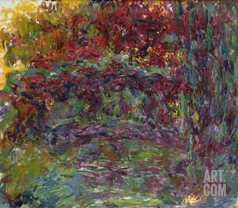The Japanese Bridge at Giverny, 1918-24 Stretched Canvas Print