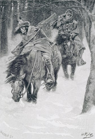Travelling in Frontier Days, Illustration from 'The City of Cleveland' by Edmund Kirke Stretched Canvas Print