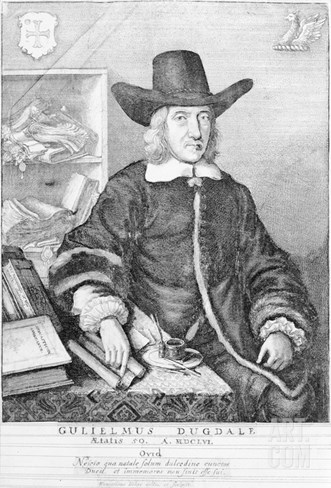 William Dugdale, 1656 (Engraving) Stretched Canvas Print