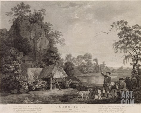 Shooting, Plate 1, Engraved by William Woollett (1735-85) 1769 (Fifth State Engraving and Etching) Stretched Canvas Print