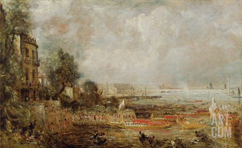 The Opening of Waterloo Bridge, c.1829-31 Stretched Canvas Print