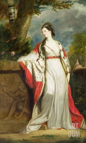 Elizabeth Gunning, Duchess of Hamilton and Duchess of Argyll, c.1760 Stretched Canvas Print