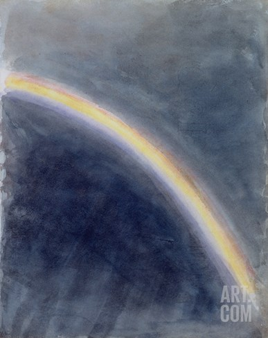 Sky Study with Rainbow, 1827 (W/C on Paper) Stretched Canvas Print