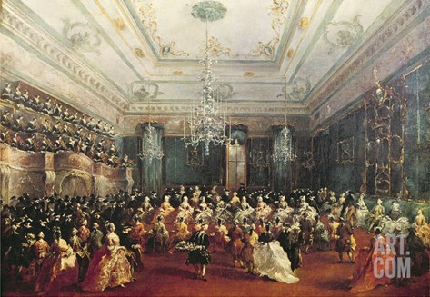 Gala Concert Given in January 1782 in Venice for the Tsarevich Paul of Russia and His Wife Stretched Canvas Print