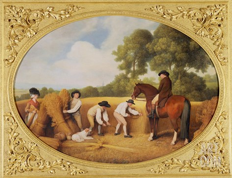 Reapers, 1795 (Enamel on Wedgwood Biscuit Earthenware) Stretched Canvas Print