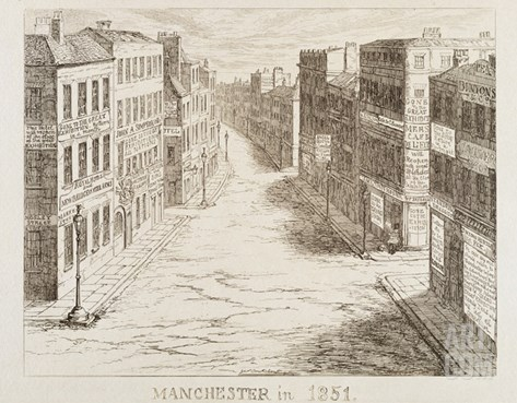 Mayhew's Great Exhibition of 1851: Manchester in 1851 (Etching) Stretched Canvas Print