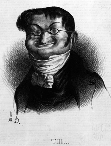 Thi', Caricature of Adolphe Thiers from 'Le Charivari', 2 June, 1833 (Litho) Stretched Canvas Print