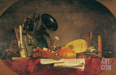 The Attributes of Music, 1765 Stretched Canvas Print