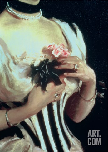 Mrs. Wilton Phipps, c.1884 (Detail) Stretched Canvas Print