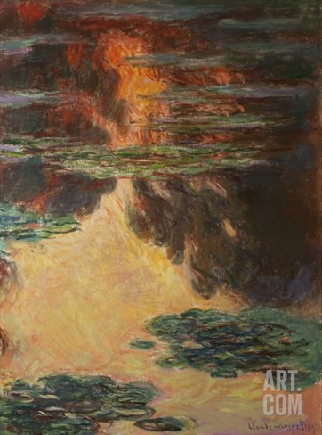 Waterlilies, Detail, 1907 Stretched Canvas Print