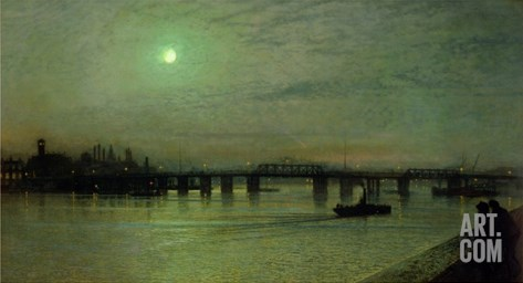 Battersea Bridge, 1885 Stretched Canvas Print