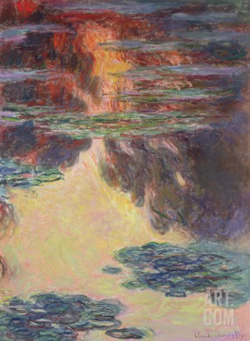 Waterlilies, 1907 Stretched Canvas Print