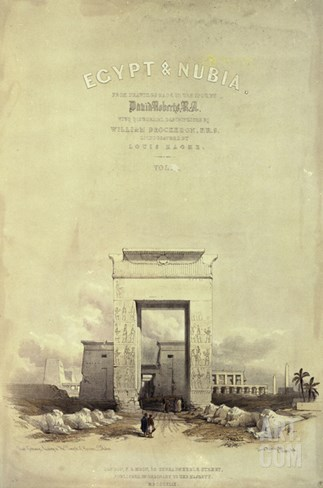 Great Gateway Leading to the Temple of Karnak, Titlepage to 'Egypt and Nubia' Stretched Canvas Print