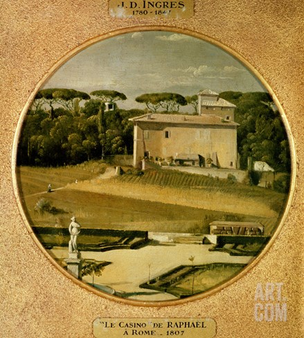 Casino of Raphael' in the Gardens of the Villa Borghese, Rome, 1807 Stretched Canvas Print