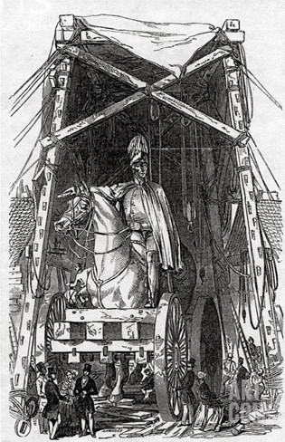 The Statue at Mr. Wyatt's Foundry, Published in 'The Illustrated London News', 3rd October 1846 Stretched Canvas Print