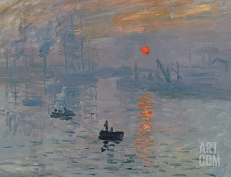 Impression: Sunrise, 1872 Stretched Canvas Print