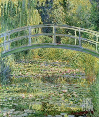 Waterlily Pond, 1899 (Oil on Canvas) Stretched Canvas Print
