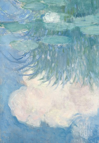 Waterlilies, Detail, 1914-17 Stretched Canvas Print
