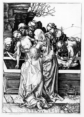 The Entombment, C.1475 (Engraving) Stretched Canvas Print