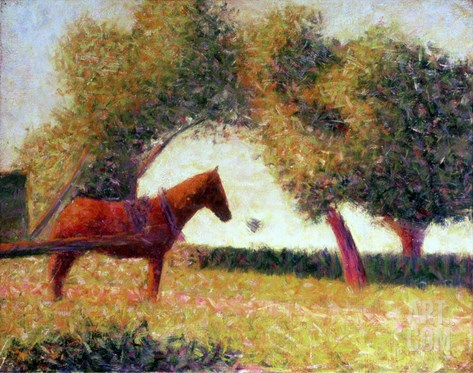 The Harnessed Horse, 1883 Stretched Canvas Print