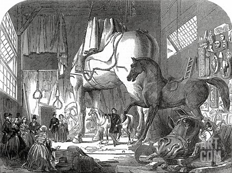 Mr Wyatt's Atelier, or Model-Room, Published in 'The Illustrated London News', 11th July 1846 Stretched Canvas Print
