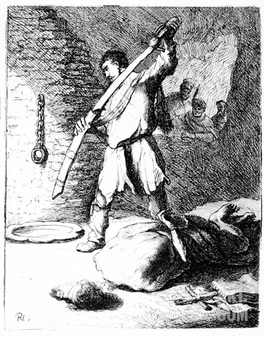 The Beheading of John the Baptist, C.1627 (Etching) Stretched Canvas Print