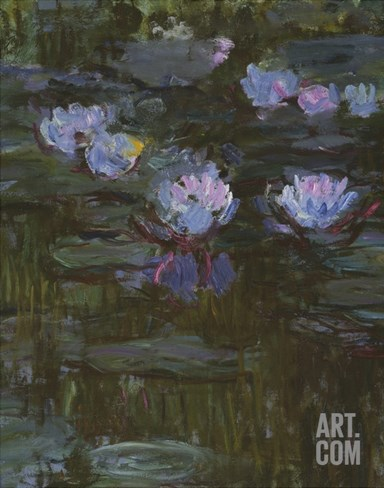 Waterlilies, 1914-17 (Detail) Stretched Canvas Print