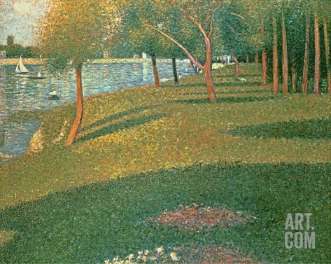 La Grande Jatte Stretched Canvas Print
