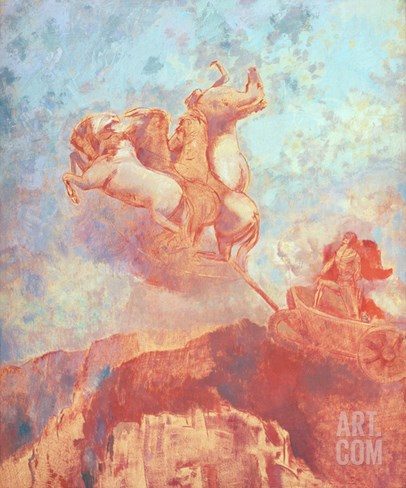 Chariot of Apollo, c.1908 Stretched Canvas Print
