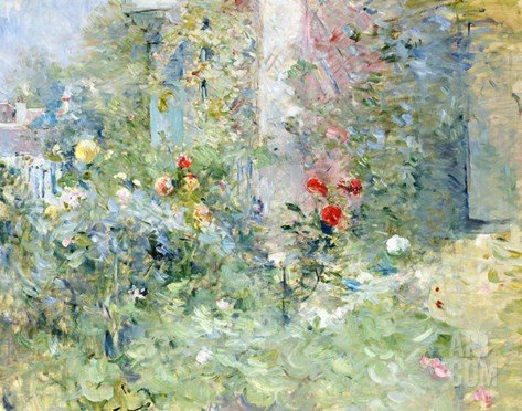 The Garden at Bougival, 1884 Stretched Canvas Print